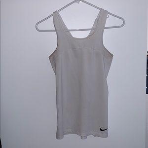 Nike pro white tank top